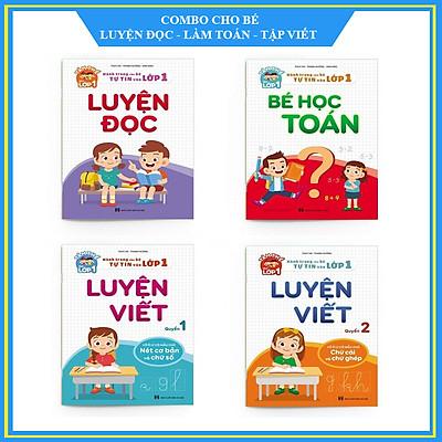 Hành trang cho bé chuẩn bị vào lớp 1 - Bộ vở Luyện đọc - Bé học toán và Luyện viết
