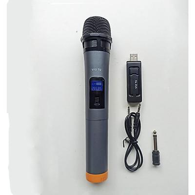 Bộ micro UHF dùng cho loa kéo , dàn âm thanh , hát karaoke V12 ( Hàng nhập khẩu )