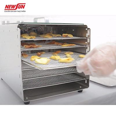 Tủ sấy thực phẩm mini dùng cho gia đình 6 khay NEWSUN -  Sấy khô đảm bảo chất lượng, năng suất cao - Hàng chính hãng