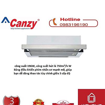 Combo Máy Hút Mùi Canzy CZ 7002 SYP + Ống bạc giảm ồn cao cấp - Hàng Chính Hãng