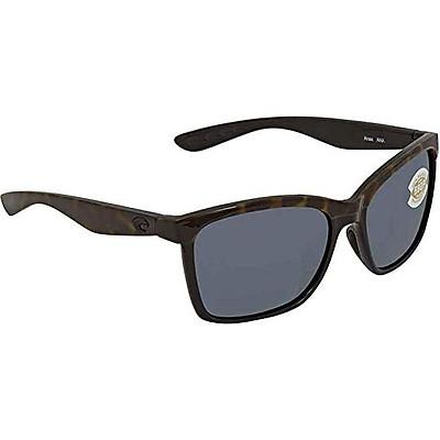 Costa del Mar Anaa Sunglasses Shiny Black/Crystal/Lt Blue Gray 580Plastic