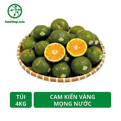 [Chỉ Giao HCM] Túi 4Kg - Cam Kiến Vàng Vĩnh Long Mọng Nước - Canh Tác Thiên Địch An Toàn -  Foodmap