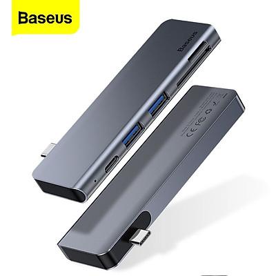 Bộ Hub chuyển đổi 5 trong 1 Baseus Harmonica Type C to USB 3.0, TF/SD Card Reader, Type C PD Adapter cho Macbook Pro/ Laptop Windows - Hàng chính hãng