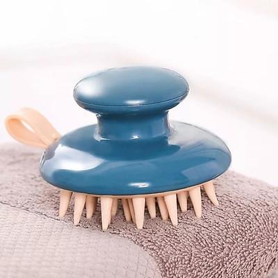 Lược Gội Đầu Massage Silicon - Massage da đầu - Giảm rụng tóc - Kích thích mọc tóc (Màu ngẫu nhiên) + Tặng kèm móc treo siêu dính