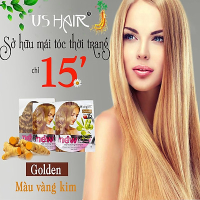 Dầu Gội Nhuộm Tóc Thảo Dược US Hair