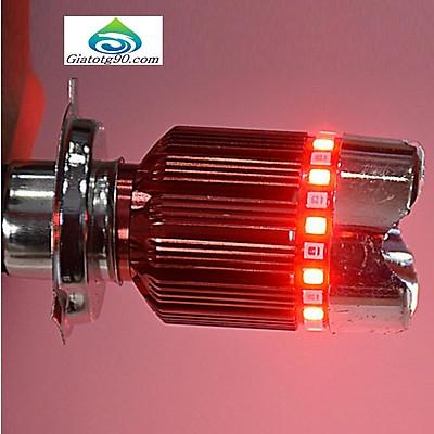 Đèn Fa led 3 chân H4 7 màu gắn pha xe máy 206358