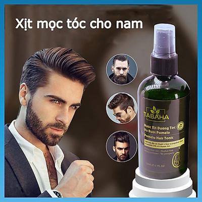 Xịt mọc tóc nhanh tinh dầu vỏ bưởi Tabaha 120ml dành cho Nam giới bị rụng tóc, tóc thưa