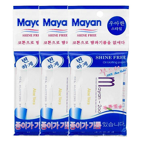 Combo 3 Giấy Thấm Dầu Mayan (200 Tờ Gói) 2