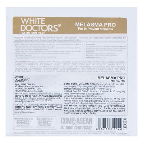 Kem Làm Mờ Vết Nám White Doctors Melasma Pro (40g) 2