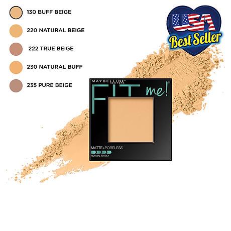 Phấn Phủ Mịn Nhẹ Kiềm Dầu Fit Me Matte Poreless Powder Maybelline New York 8.5g 3