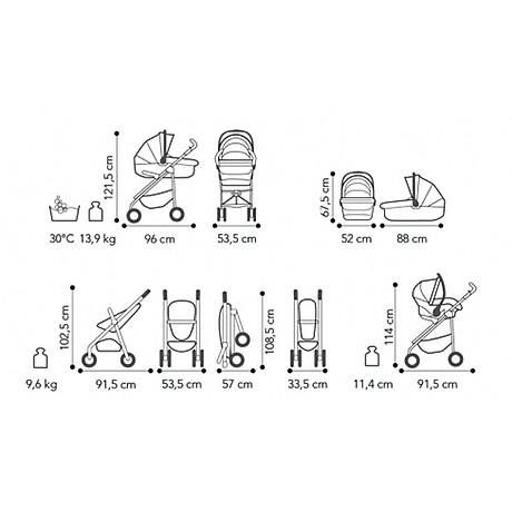 Bộ Xe Đẩy Brevi Mille-Strade 3 Trong 1 BRE751-067 - Màu Kem 3