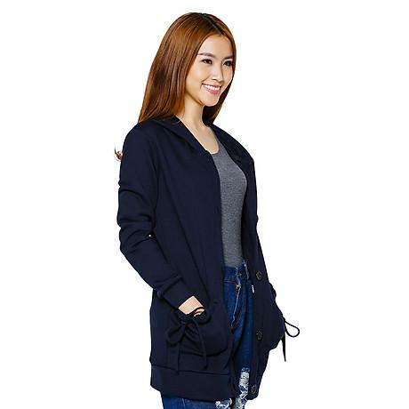 Áo Khoa c Nữ Form Dài Hàn Quốc Phúc An w0004_xanhden - Xanh Đen (Freesize) 2