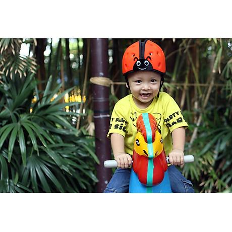 Mũ Bảo Vệ Đầu Cho Bé Mumguard Hình Bọ Cánh Cam - Cam 8