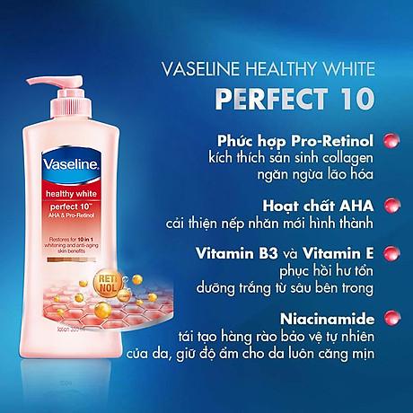 Combo 2 Sữa Dưỡng Thể Vaseline Trắng Da 10 Lợi Ích (350ml) 5