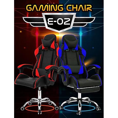 BG Ghế chơi game Mẫu E01 (Red Black) chân xoay 360 độ, ngả 165 độ (hàng nhập khẩu) 7