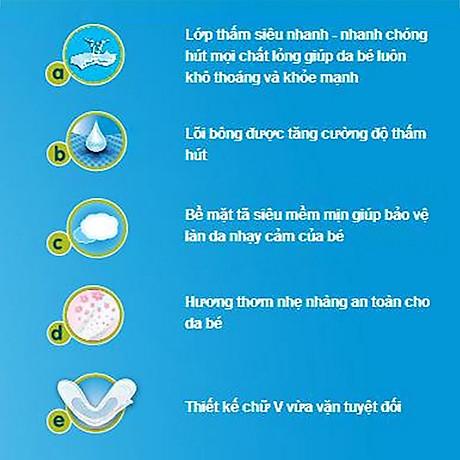 Miếng Lót Sơ Sinh Huggies Dry Newborn 1 - 56 (56 Miếng) - Bao Bì Mới 3