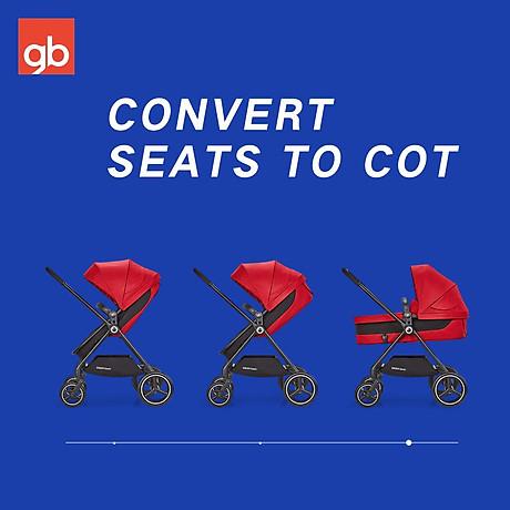 Xe đẩy em bé GB Swan Basic - Đỏ 6