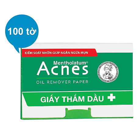 Giấy Thấm Dầu Acnes Oil Remover Paper (100 Tờ) 1