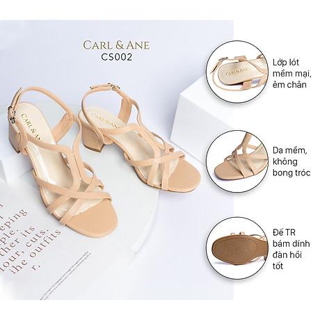 Gia y sandal phô i dây thời trang Erosska mu i vuông gót cao 5cm CS002 2