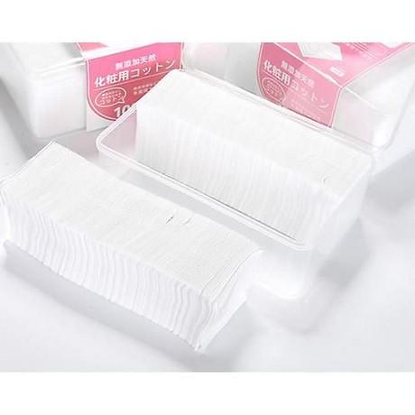 Combo 2 hộp bông tẩy trang Miniso 1000 miếng 100% Cotton Nhật 3