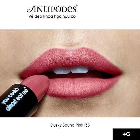 Son Môi Thiên Nhiên Màu 8 Hồng Đất Antipodes Lipstick Dusky Sound Pink 135 4g 4