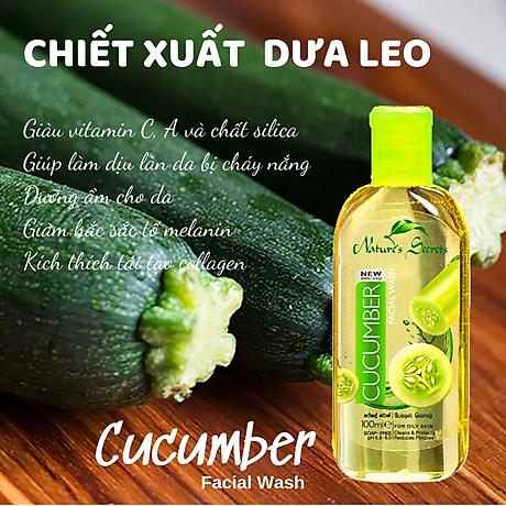 Sữa rửa mặt sạch nhờn giảm mụn Cucumber Facial Wash 100ml 4
