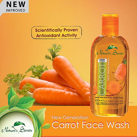 Sữa rửa mặt dưỡng ẩm trắng da Carrot Facial Wash 100ml 3
