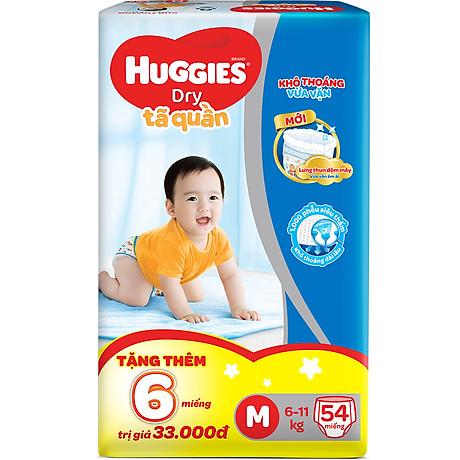 Tã Quần Huggies Dry Gói Đại M54 (54 Miếng) - Bao Bì Mới 2