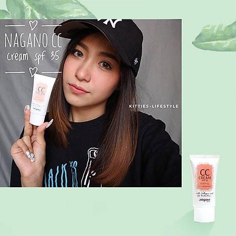 Kem Nền Collagen CC Nagano Japan 20ml Có Chất Chống nắng Với Chỉ Số SPF35 - CC Cream Nagano 20ml - Tạo lớp nền trang điểm tự nhiên nhất, chống lão hóa và bảo vệ da 5