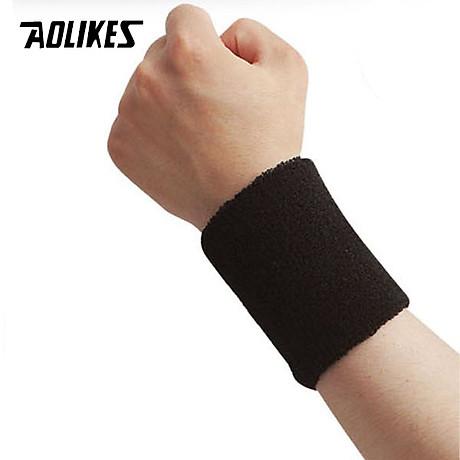 Bộ 2 băng cổ tay thấm mồ hôi thể thao AOLIKES TC-0230 1