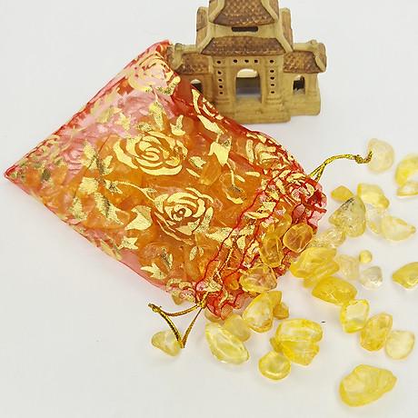 Túi Tài Lộc Thạch Anh Vàng 100g 2