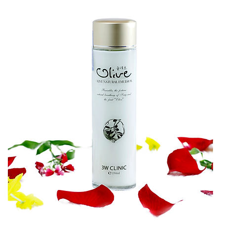 Sữa dưỡng trắng da tinh chất dầu Olive 3W CLINIC Hàn Quốc 150ml 2