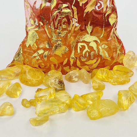 Túi Tài Lộc Thạch Anh Vàng 100g 4