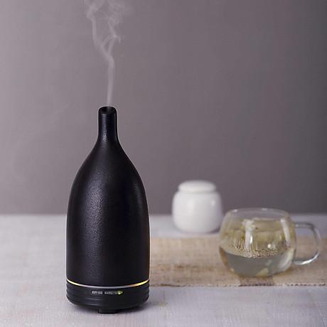 Combo máy xông khuếch tán tinh dầu gốm đen Lorganic FX2014 + tinh dầu sả chanh + tinh dầu cam Lorganic (10ml x2) LGN0155 Phun sương sóng siêu âm. 7