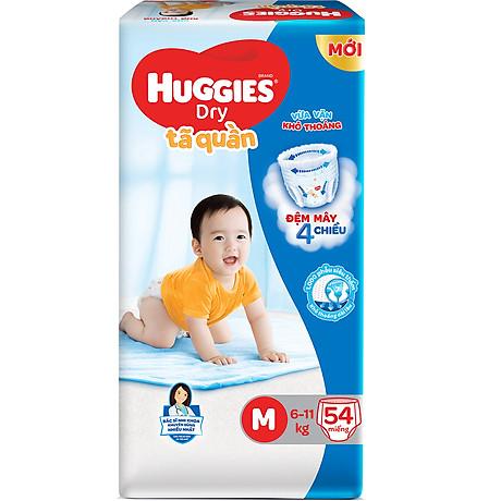 Tã Quần Huggies Dry Gói Đại M54 (54 Miếng) - Bao Bì Mới 3