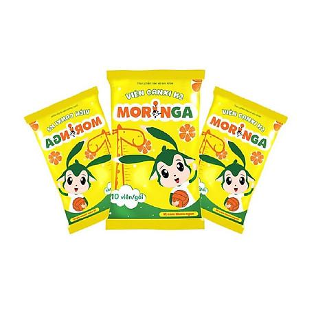 COMBO 2 hộp Viên Canxi K2 Moringa - Bổ sung Canxi và Vitamin K2, tăng chiều cao, chống còi xương ở trẻ em - Hộp 8 gói 2
