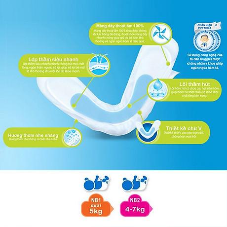 Miếng Lót Sơ Sinh Huggies Dry Newborn 1 - 56 (56 Miếng) - Bao Bì Mới 4