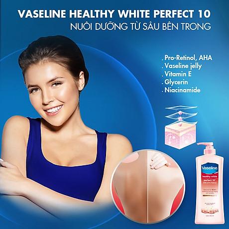 Combo 2 Sữa Dưỡng Thể Vaseline Trắng Da 10 Lợi Ích (350ml) 7