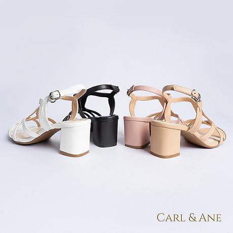 Gia y sandal phô i dây thời trang Erosska mu i vuông gót cao 5cm CS002 8