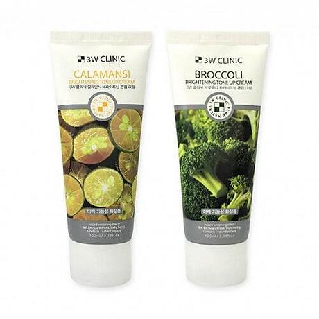 Kem nền dưỡng trắng tinh chất bông cải xanh 3W CLINIC Hàn Quốc 100ml 6
