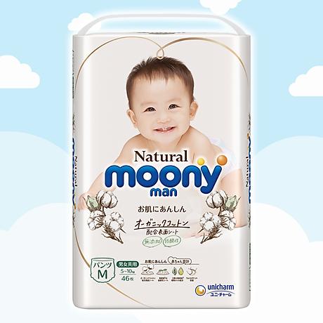 COMBO 2 Bỉm - Tã quần Moony Natural size M 46 miếng (Cho bé 5 - 10kg) 2