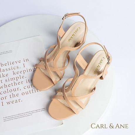 Gia y sandal phô i dây thời trang Erosska mu i vuông gót cao 5cm CS002 6