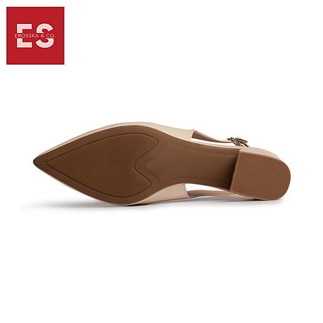 Giày nư , gia y cao gót slingback Erosska mũi nhọn da bóng kiểu dáng basic cao 4cm - EL012 5