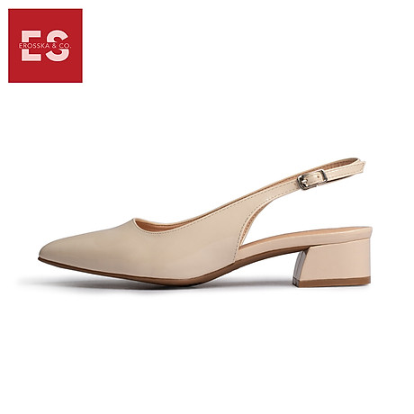 Giày nư , gia y cao gót slingback Erosska mũi nhọn da bóng kiểu dáng basic cao 4cm - EL012 3