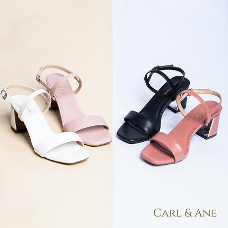 Gia y sandal Erosska thời trang nư mu i vuông phô i quai ngang kiê u da ng đơn gia n cao 7cm CS005 8