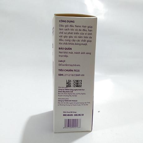 Dầu gội trị gàu, ngứa da đầu và viêm da đầu, giảm triệu chứng bong vảy và ngứa da đầu tiết bã, gàu và lang ben DẦU GỘI NANO HAIR chứa 100% thảo dược - Chai 100ML 7