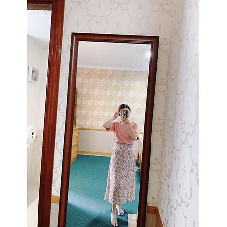 Chân Váy Nữ Hoa Xoè Eo Bo Chun Phía Sau 4