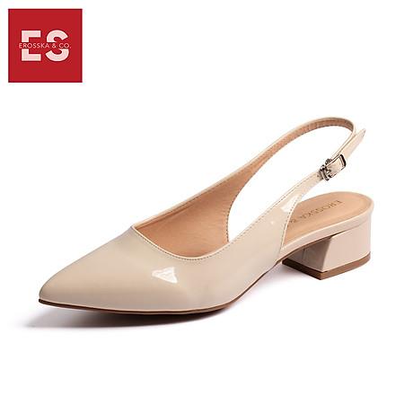 Giày nư , gia y cao gót slingback Erosska mũi nhọn da bóng kiểu dáng basic cao 4cm - EL012 2
