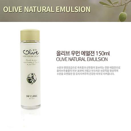 Sữa dưỡng trắng da tinh chất dầu Olive 3W CLINIC Hàn Quốc 150ml 8