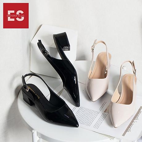 Giày nư , gia y cao gót slingback Erosska mũi nhọn da bóng kiểu dáng basic cao 4cm - EL012 8